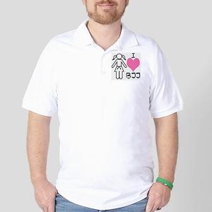 I love BJJ Golf Shirt