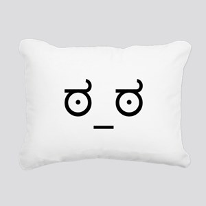 Look Of Disapproval Rectangular Canvas Pillow