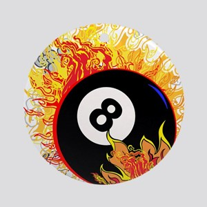 Fiery Eight Ball Ornament (Round)
