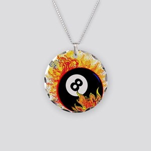 Fiery Eight Ball Necklace