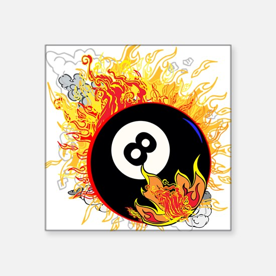 Fiery Eight Ball Sticker