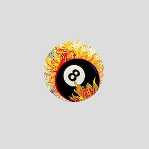 Fiery Eight Ball Mini Button