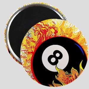 Fiery Eight Ball Magnets