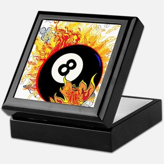 Fiery Eight Ball Keepsake Box