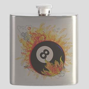Fiery Eight Ball Flask