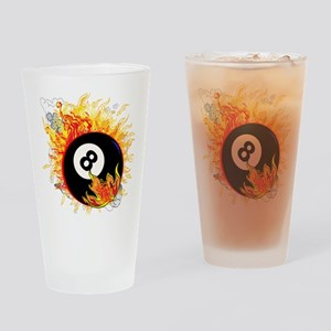 Fiery Eight Ball Drinking Glass