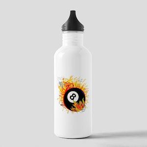 Fiery Eight Ball Water Bottle