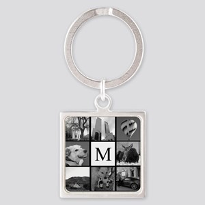 Monogrammed Photo Block Keychains
