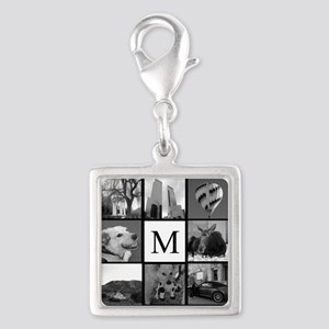 Monogrammed Photo Block Charms