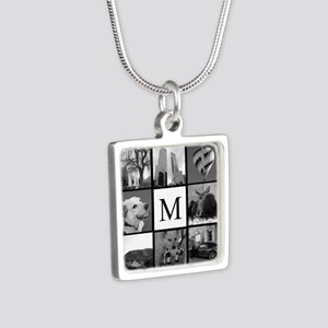 Monogrammed Photo Block Necklaces