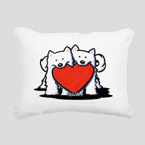German Spitz Duo Rectangular Canvas Pillow