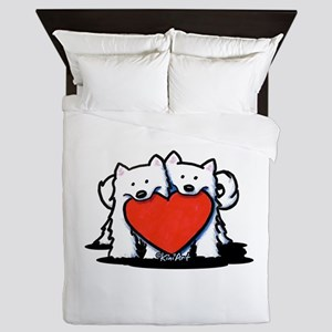 German Spitz Duo Queen Duvet
