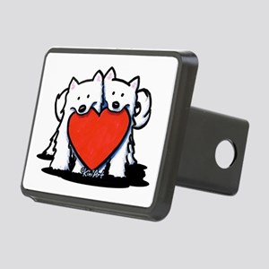 German Spitz Duo Rectangular Hitch Cover