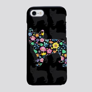floral french bulldog art iPhone 7 Tough Case