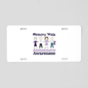 Memory Walk ALZHEIMERS AWARENESS Aluminum License