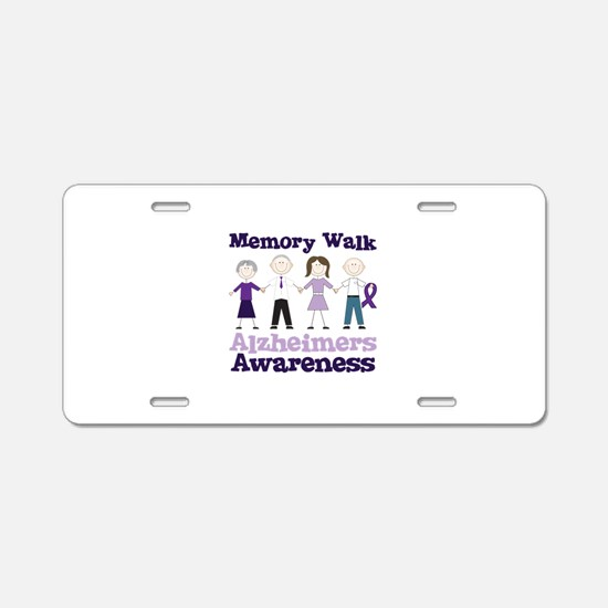 Memory Walk ALZHEIMERS AWARENESS Aluminum License