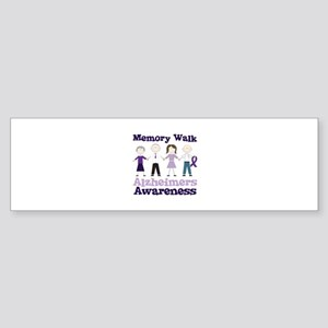 Memory Walk ALZHEIMERS AWARENESS Bumper Sticker