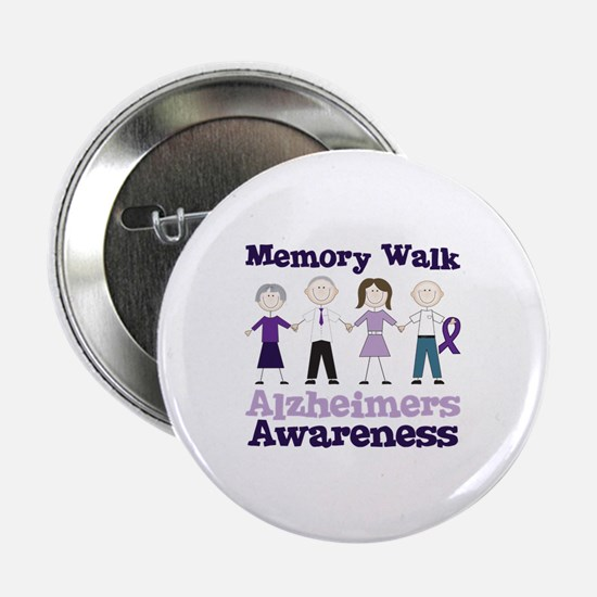 """Memory Walk ALZHEIMERS AWARENESS 2.25"""" Button"""