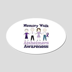 Memory Walk ALZHEIMERS AWARENESS Wall Decal