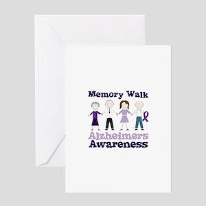 Memory Walk ALZHEIMERS AWARENESS Greeting Cards