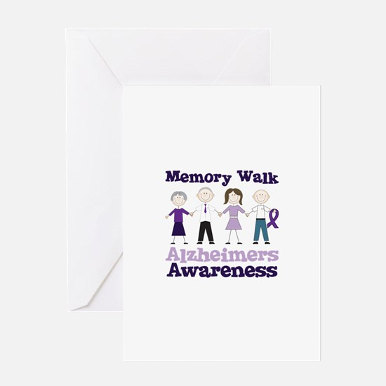 Memory Walk ALZHEIMERS AWARENESS Greeting Cards