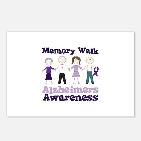 Memory Walk ALZHEIMERS AWARENESS Postcards (Packag