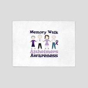 Memory Walk ALZHEIMERS AWARENESS 5'x7'Area Rug