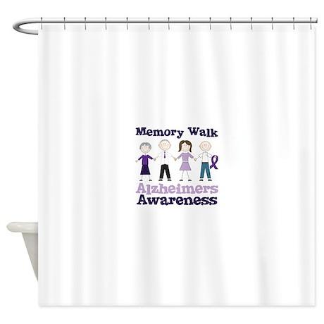Memory Walk ALZHEIMERS AWARENESS Shower Curtain