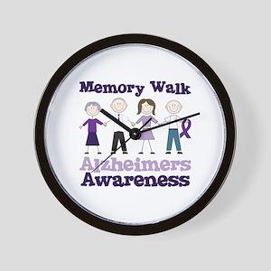 Memory Walk ALZHEIMERS AWARENESS Wall Clock