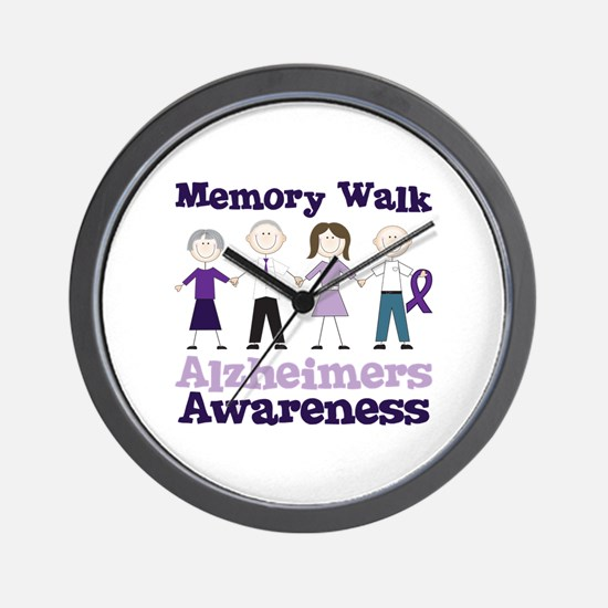 Memory Walk ALZHEIMERS AWARENESS Wall Clock