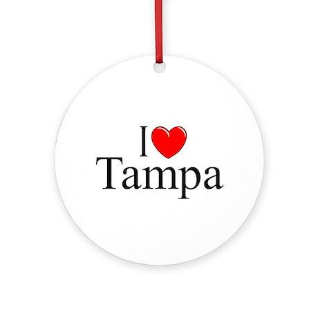 """""""I Love Tampa"""" Ornament (Round)"""