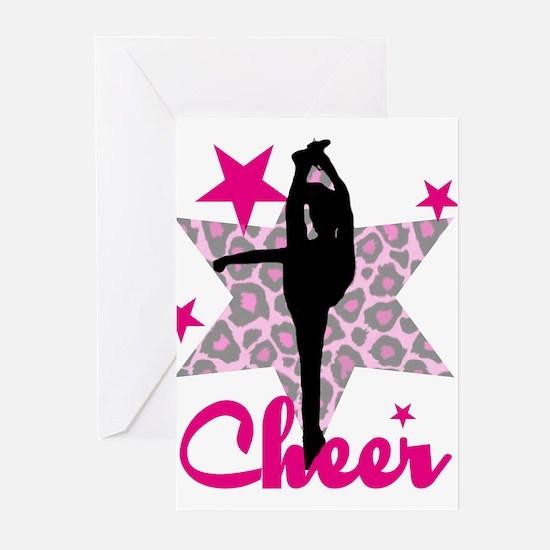 Pink Cheerleader Greeting Cards