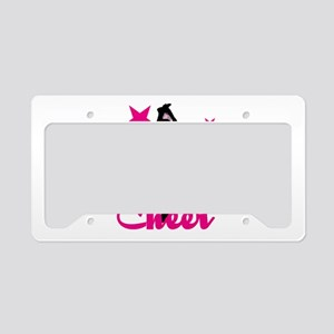 Pink Cheerleader License Plate Holder