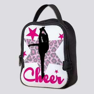 Pink Cheerleader Neoprene Lunch Bag