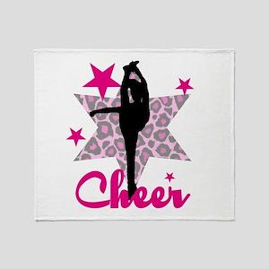 Pink Cheerleader Throw Blanket