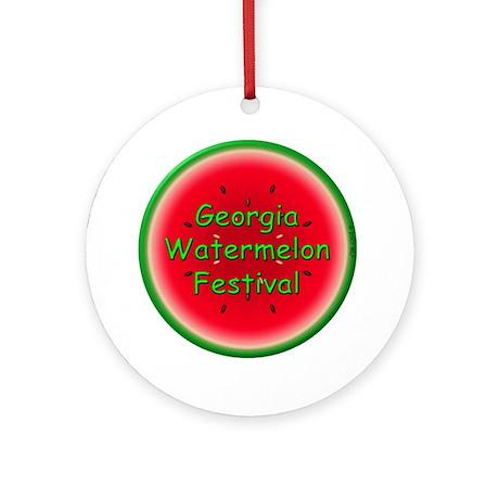 GA Watermelon Festival Ornament (Round)