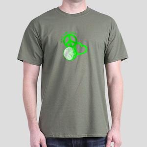 Peace, Love & Golf Dark T-Shirt