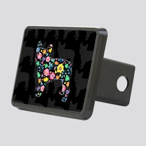floral french bulldog art Rectangular Hitch Cover