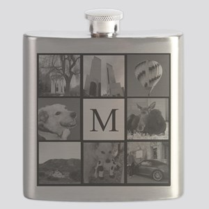 Monogrammed Photo Block Flask