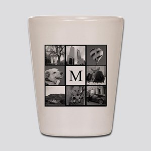 Monogrammed Photo Block Shot Glass
