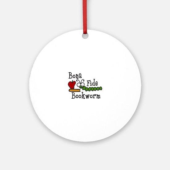 Bonafide Bookworm Ornament (Round)