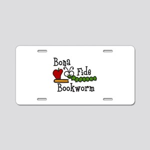 Bonafide Bookworm Aluminum License Plate