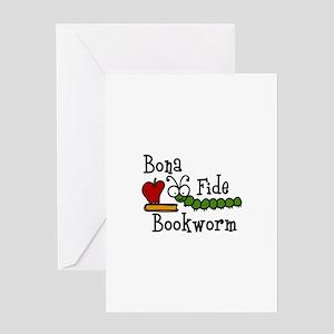Bonafide Bookworm Greeting Cards