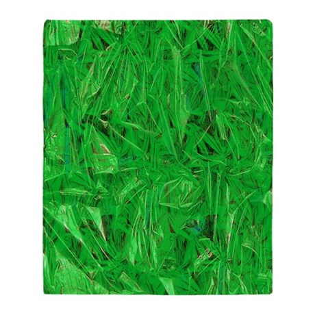 Green Grass Throw Blanket