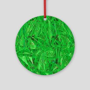 Green Grass  Round Ornament