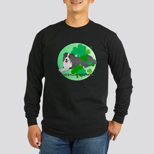 Australian Shepherd Long Sleeve Dark T-Shirt