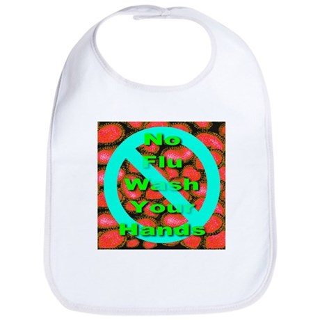 No Flu Wash Your Hands Bib