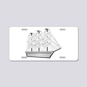 Clipper Ship Aluminum License Plate