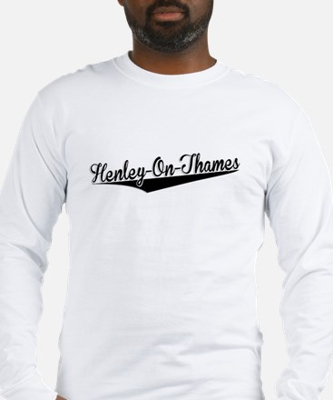 Henley-On-Thames, Retro, Long Sleeve T-Shirt