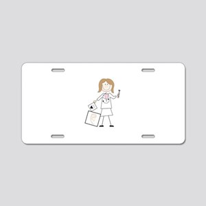female audiologist Aluminum License Plate